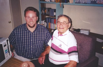 My first visit with Sid Gillman, in the film room of his home in La Costa, California.
