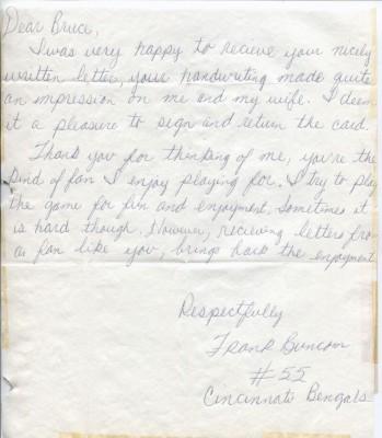Frank Buncom letter
