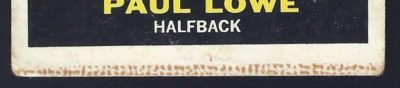 paul lowe milton bradley card