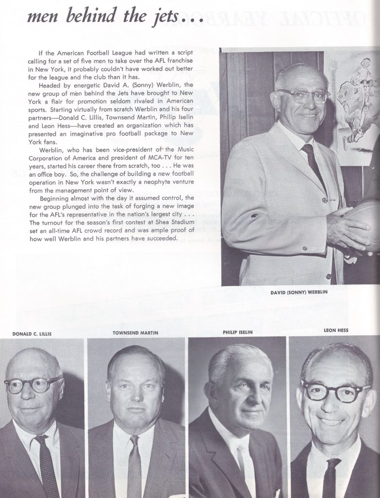 1964 new york jets owners