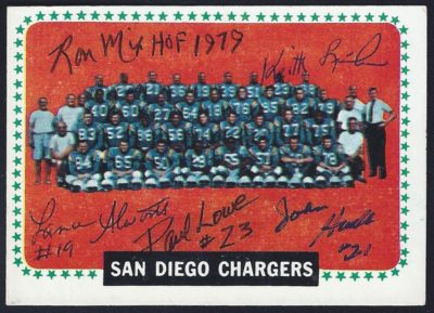 chargers team card