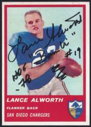 1963 Fleer Lance Alworth - No Red Stripe