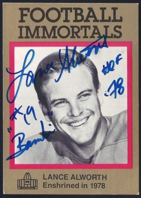 1985 Pro Football Hall of Fame Football Immortals