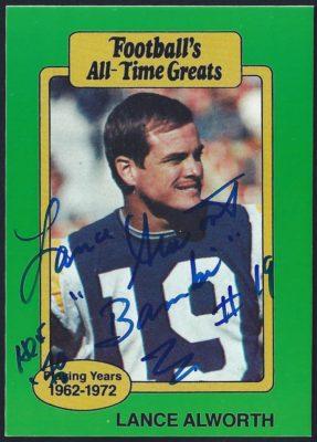 1987 Hygrade Football's All Time Greats