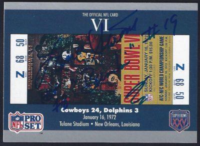 1990 Pro Set Super Bowl Tickets