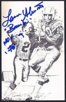 1998 Pro Football Hall of Fame 35th Anniversary Postcard