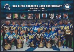 2001 Upper Deck Chargers 40th Anniversary Team