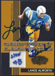 2006 Donruss Threads Century Legends Materials