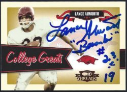 2007 Donruss Threads College Greats Base