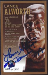 2010 Pro Football Hall of Fame - Bronze Bust Postcard