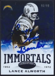 2014 Panini Certified Immortals Mirror Blue