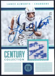 2017 Panini Encased Century Collection Materials Sapphire